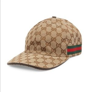 NEW Gucci Canvas Baseball Hat Cap